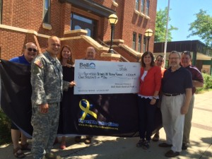Accepting 1000 check from Mary Dack Bell Bank
